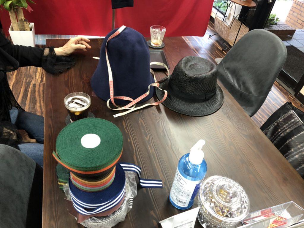 オーダー帽子のビスポーク風景
